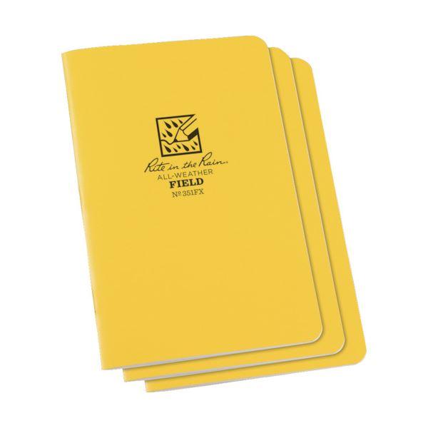 (まとめ) ライトインザレインステイプルノートブック(セット) フィールド 351FX 1パック(3冊) 【×5セット】