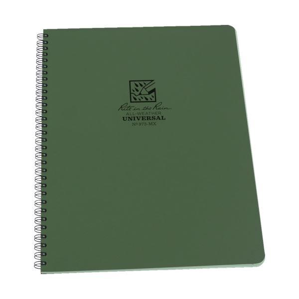 ライトインザレインスパイラルノートブック ユニバーサル グリーン 973-MX 1冊 【×10セット】 緑