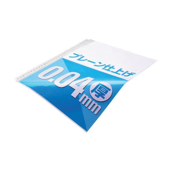(まとめ) TANOSEE クリアファイル用リフィルA4タテ 2・4・30穴 プレーン仕上げ 1パック(100枚) 【×30セット】