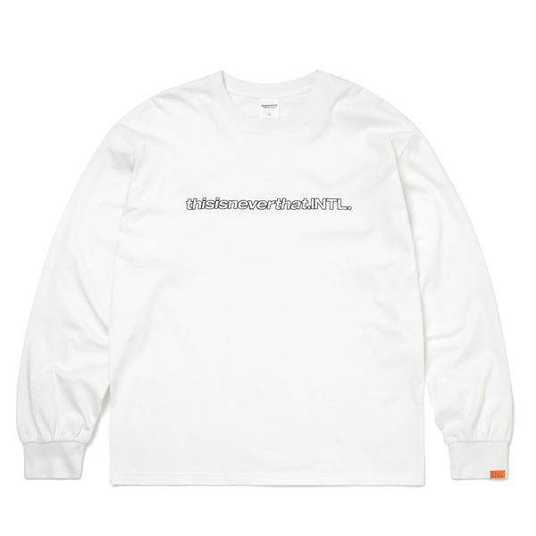 ホワイト L 白 SP-INTL・L/LS長袖Tシャツ thisisneverthat(ディスイズネバーザット)TN21SLS001