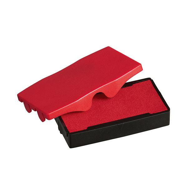 (まとめ) シャイニー スタンプ内蔵型角型印S-852専用パッド 赤 S-852-7R 1個 【×30セット】