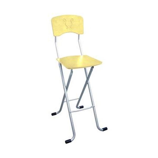 折りたたみ椅子 【1脚販売 ナチュラル×シルバー】 日本製 スチールパイプ 幅40×奥行45×高さ97