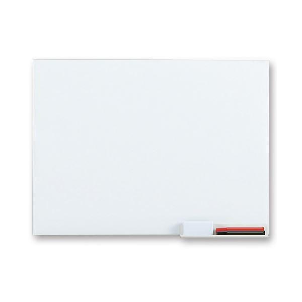 (まとめ) TANOSEE ホワイトボードシート スリムタイプ 600×450mm 1枚 【×5セット】 白