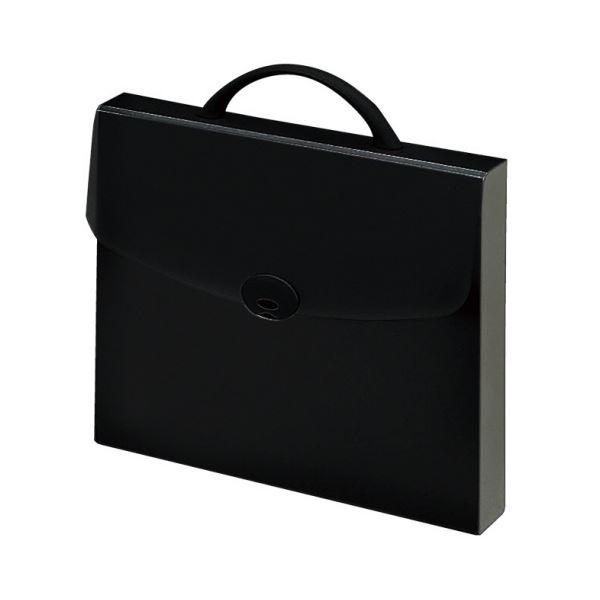 コクヨ ドキュメントケース(ハードタイプ)ハンドル付き A4 ブラック クケ-774D 1セット(5冊) 黒