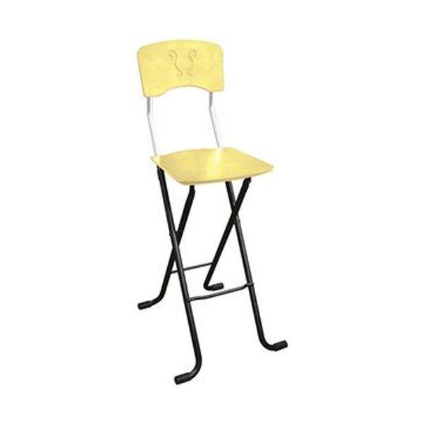 折りたたみ椅子 【1脚販売 ナチュラル×ブラック】 日本製 スチールパイプ 幅40×奥行45×高さ97 黒