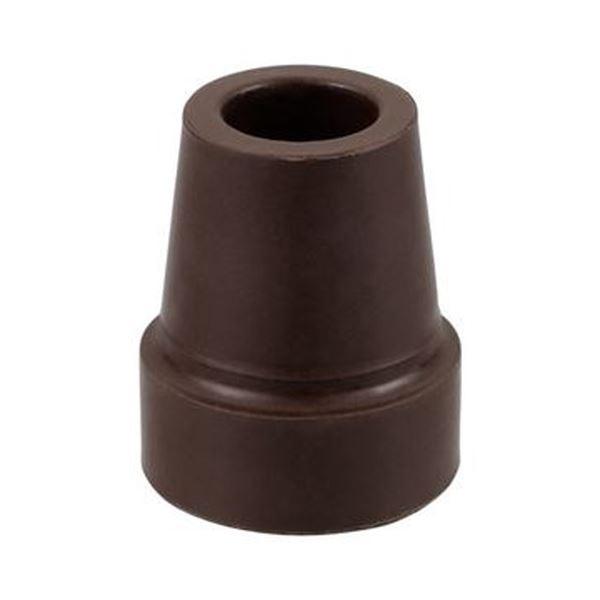 (まとめ)ナカバヤシ RQステッキエコノミータイプ 折りたたみステッキ専用つえ先ゴム L ブラウン RQS-GM1BR 1個【×50セット】 茶