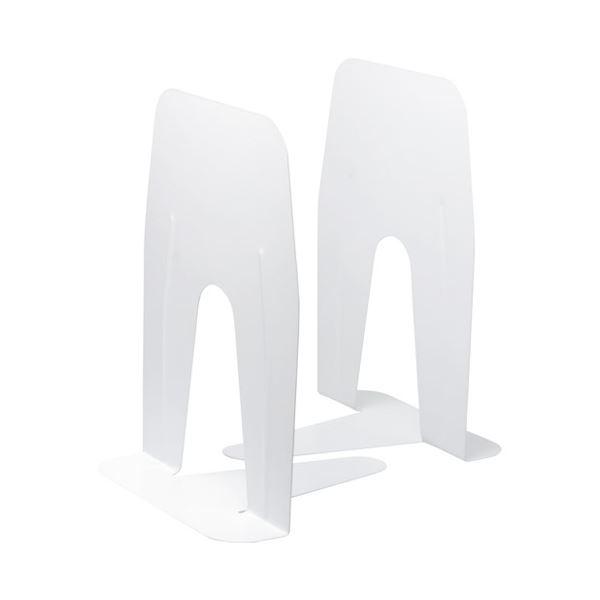(まとめ)ソニック ブックエンド 超特大 A4ぴったりサイズ 白【×30セット】