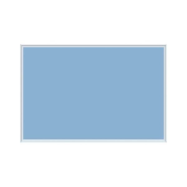 【訳あり・在庫処分】馬印 壁掛け用ワンウェイ掲示板 ブルー K23-741 1枚 青