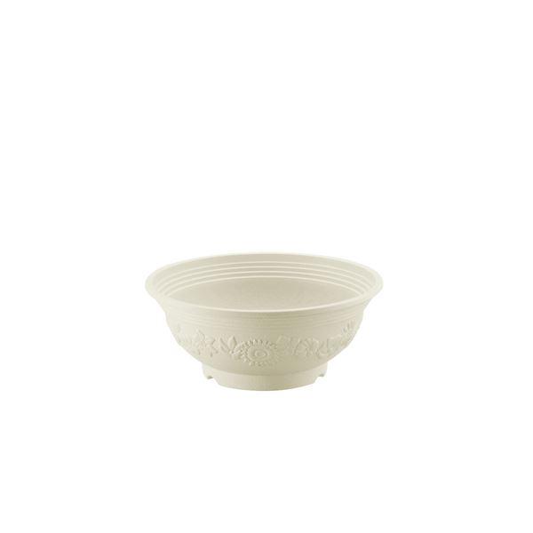 (まとめ) ボール型プランター/植木鉢 【アイボリー 30型】 ガーデニング用品 園芸 【×48個セット】 乳白色