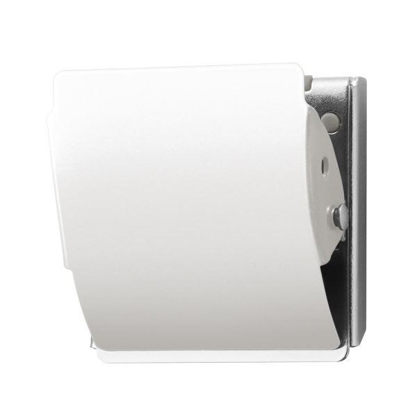 (まとめ)プラス マグネットクリップ CP-040MCR M ホワイト【×50セット】 白