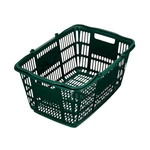 (まとめ) スーパーメイト ショッピングバスケット 33L ダークグリーン CB-33EGG 1個 【×10セット】 緑