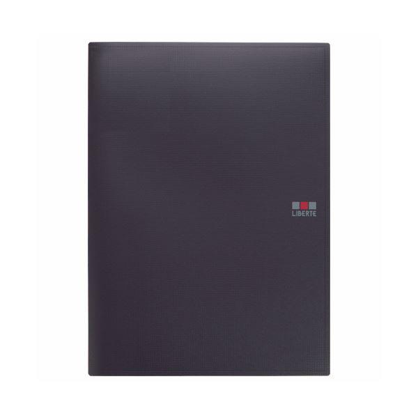 (まとめ) ライオン事務器クリアーブック(リベルテ) B4タテ 12ポケット ブラック CR-107L 1枚 【×30セット】 黒