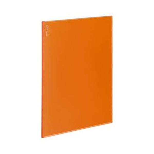 (まとめ)コクヨ ポケットファイルα(ノビータα)固定式 A4タテ 12ポケット 背幅3mm オレンジ ラ-NF12YR 1セット(10冊)【×5セット】