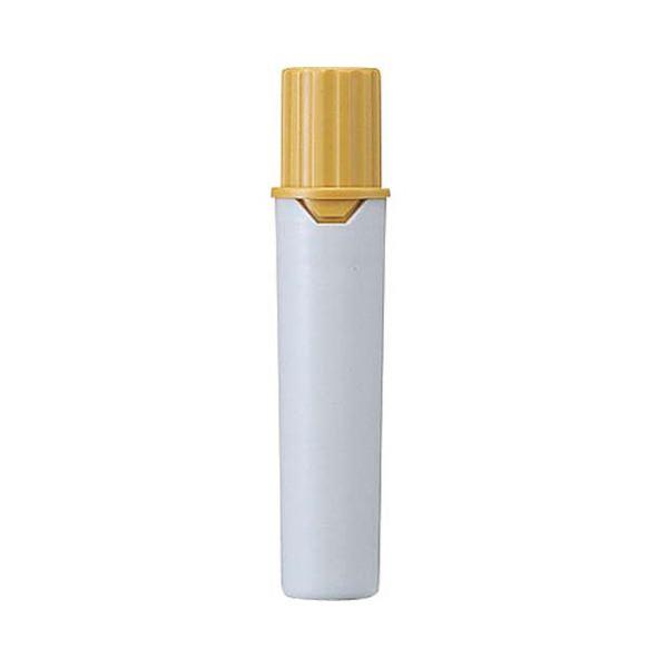 (まとめ) 三菱鉛筆 水性マーカー プロッキー詰替えタイプ用インクカートリッジ 太字角芯+細字丸芯 黄土色 PMR70.19 1本 【×300セット】