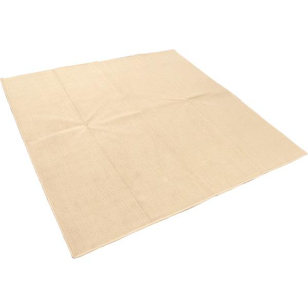 カーペット ラグ 敷物 平織 フリーカット ループ 286×286cm 本間4.5畳 ベージュ プレーン