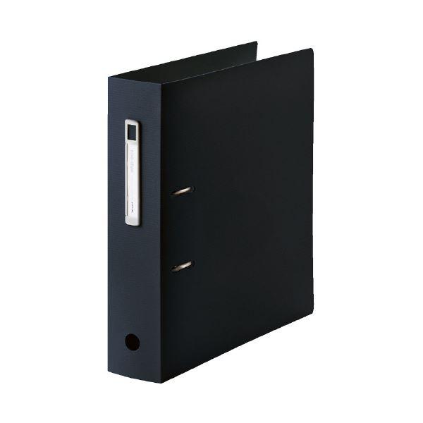 (まとめ)LIHITLAB noie-style A-Zファイル F-7687-24 ブラック【×30セット】 黒