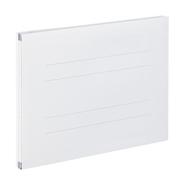 (まとめ) のびーるファイル(エスヤード) A4-E オフホワイト 10冊 【×10セット】 白