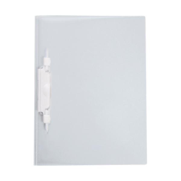 (まとめ) セキセイ レポートファイル(ルララ)A4タテ 2穴 100枚収容 ホワイト PAL-80-70 1冊 【×100セット】 白