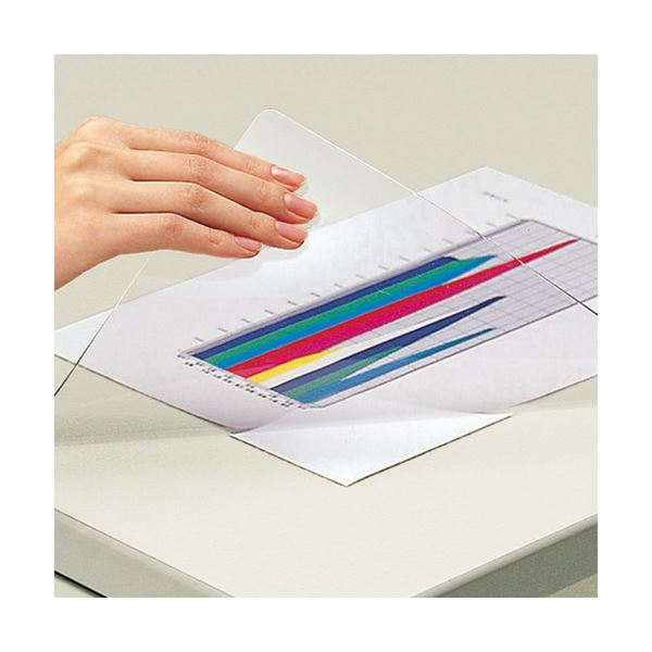 (まとめ) コクヨ デスク (テーブル 机) マット軟質(非転写) シングル 600×450mm マ-500 1枚 【×5セット】