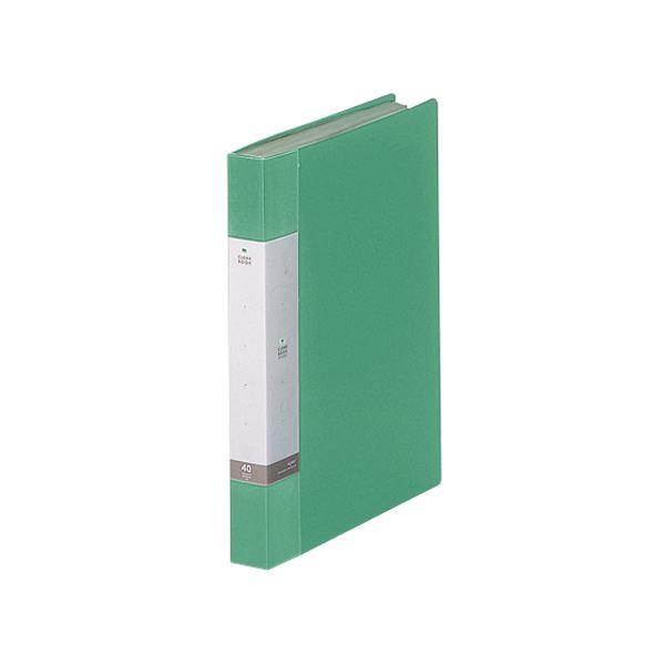 (まとめ) リヒトラブ リクエスト クリヤーブック(クリアブック) A4タテ 40ポケット 背幅32mm 緑 G3202-7 1冊 【×30セット】