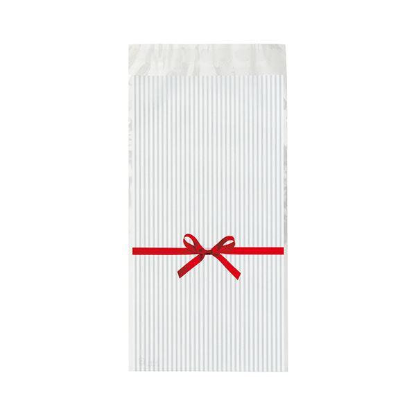 (まとめ) ヘッズ リボンテープ付OPPバッグ 白RI-TO3 1パック(50枚) 【×10セット】