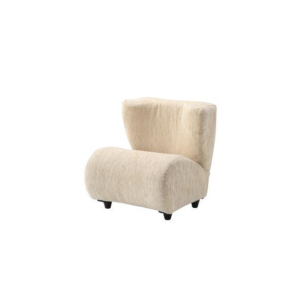 モダン パーソナルチェア (イス 椅子) 【アイボリー】 幅53cm 木製 ラタン 脚付き 『ポータブルチェア 』 〔リビング ダイニング 店舗〕 乳白色