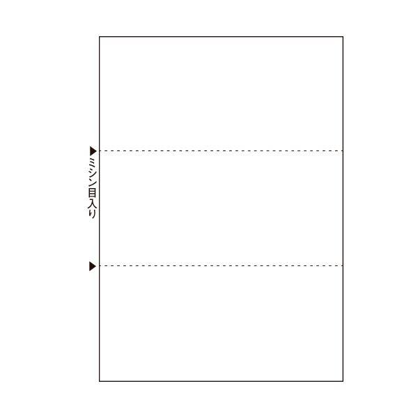 (まとめ)TANOSEEマルチプリンタ帳票(FSC森林認証紙) A4白紙 3面 1箱(500枚) 【×2セット】