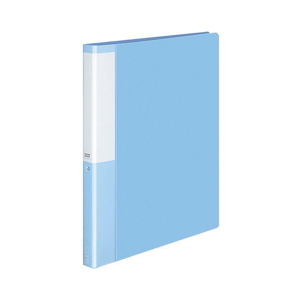 (まとめ) コクヨ クリヤーブック(クリアブック)(POSITY) 替紙式 A4タテ 30穴 15ポケット付属 背幅27mm ライトブルー P3ラ-L720LB 1冊 【×10セット】 青