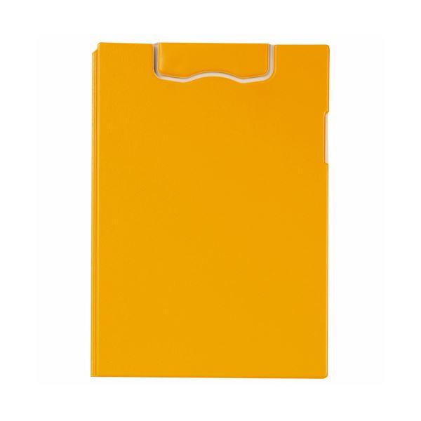 (まとめ) ライオン事務器マグネットホルダー(レオグリップ) 2つ折り式 A4タテ イエロー No.300MG 1枚 【×10セット】 黄