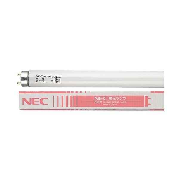 NEC 蛍光ランプ ライフライン 直管グロースタータ形 15W形 白色 FL15W/4K-L 1パック(4本) 【×10セット】