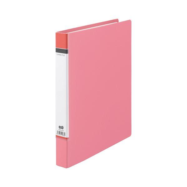 (まとめ) TANOSEE Dリングファイル(貼り表紙) A4タテ 2穴 210枚収容 背幅40mm ピンク 1冊 【×30セット】