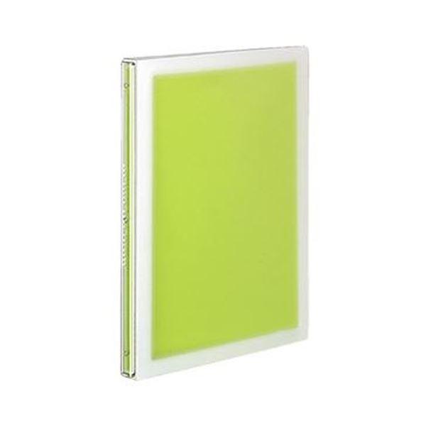 (まとめ)コクヨ スライドバインダー(コロレー)スリムタイプ B5タテ PP表紙 26穴 グリーン ル-PV30g 1セット(6冊)【×3セット】 緑