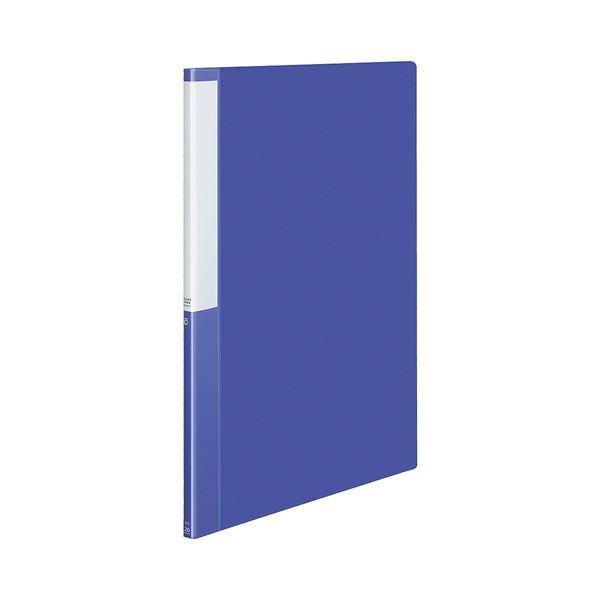 (まとめ) コクヨ クリヤーブック(クリアブック)(POSITY) 固定式 A3タテ 20ポケット 背幅15mm ブルー P3ラ-L23NB 1冊 【×10セット】 青