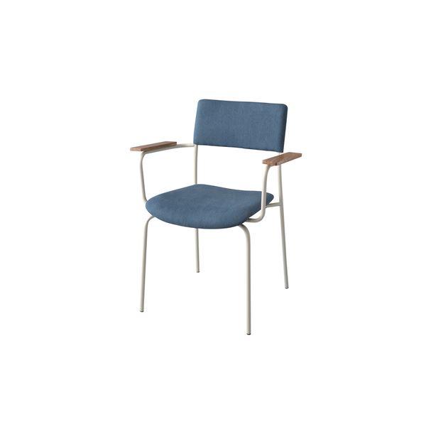 シンプルでおしゃれな部屋に使える ワークチェア PCチェア 椅子アームチェア パーソナルチェア デスクチェア パソコンチェア ワークチェア PCチェア 事務椅子 OAチェア アームチェア/パーソナルチェア 2脚セット 【幅63cm】 天然木 スチール 〔リビング ダイニング 仕事 勉強〕