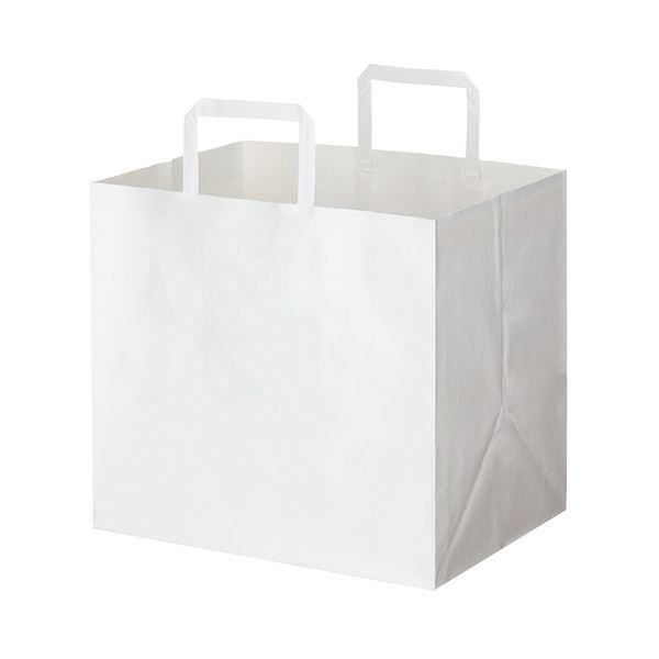 (まとめ) HEIKO Hフラットチャームバッグ300-1 白 #003277105 1パック(50枚) 【×5セット】