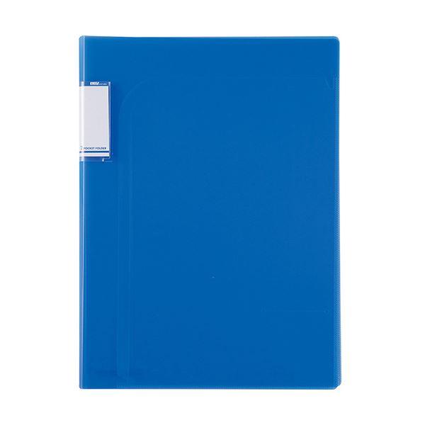 (まとめ)セキセイ アクティフ2PフォルダーA4 ACT-5902 コバルトブルー【×100セット】 青