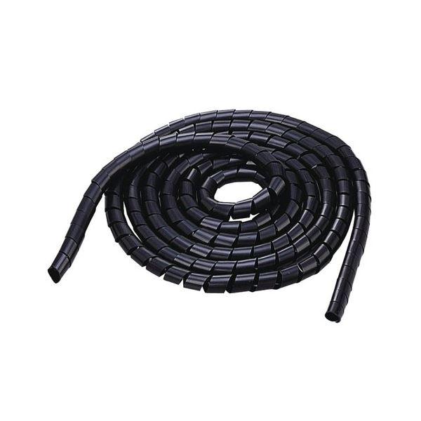(まとめ) ケーブル 配線 スパイラルチューブ内径20mm 長さ5m ブラック BST-20BK 1本 【×10セット】 黒