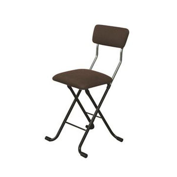 折りたたみ椅子 【1脚販売 ブラウン×ブラック】 日本製 スチールパイプ 幅400×奥行445×高さ765 黒 茶