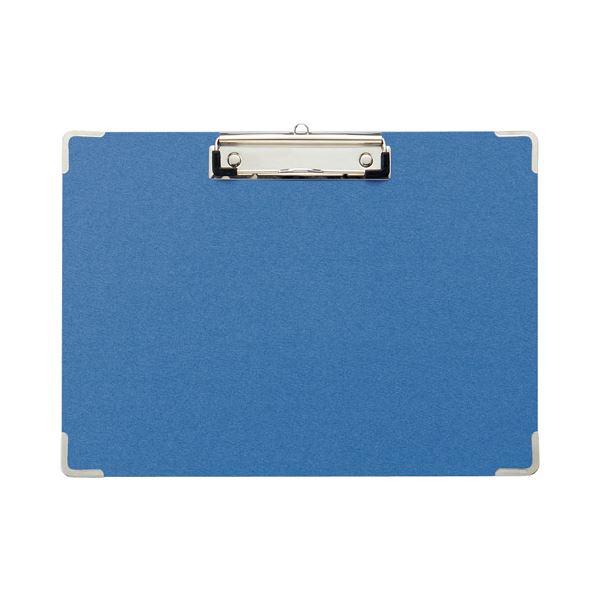 (まとめ)TANOSEE 用箋挟 A4ヨコ ブルー1セット(20枚) 【×2セット】