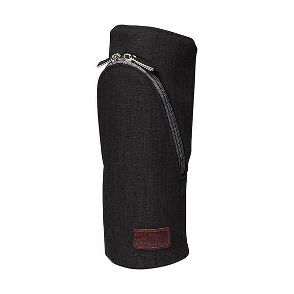 (まとめ)ソニック スマ・スタ カーム立つペンケース ブラック FD-1607-D 1個【×5セット】 黒