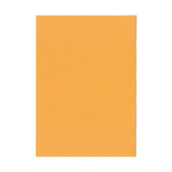 (まとめ) 北越コーポレーション 紀州の色上質A4T目 薄口 オレンジ 1冊(500枚) 【×5セット】