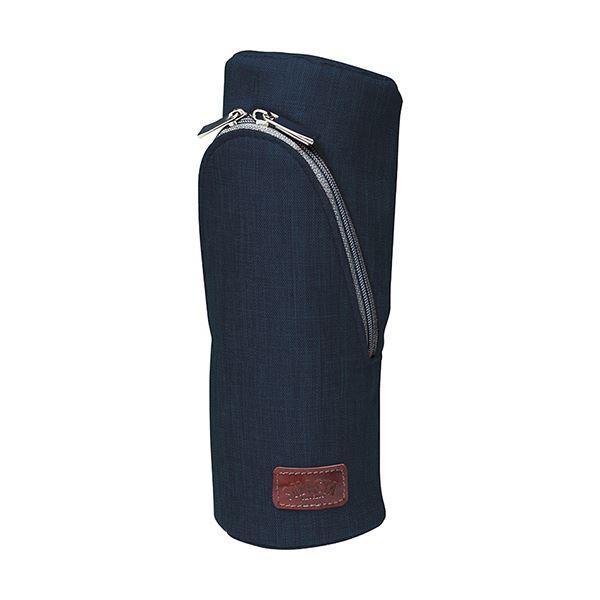 (まとめ)ソニック スマ・スタ カーム立つペンケース ネイビー FD-1607-K 1個【×5セット】