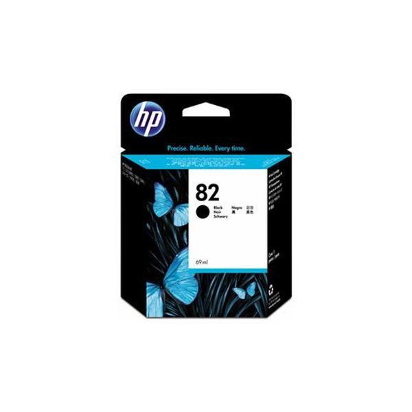 (まとめ)HP HP82 インクカートリッジブラック 69ml 顔料系 CH565A 1個【×3セット】 黒
