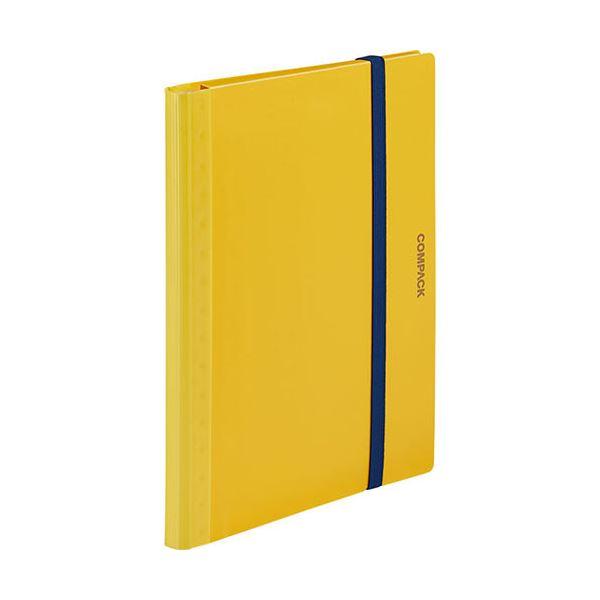 (まとめ) キングジム 二つ折りクリアーファイルコンパック 5ポケット 黄 5894Sキイ 1冊 【×30セット】