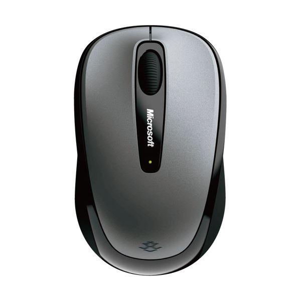 (まとめ)マイクロソフト ワイヤレス モバイルマウス 3500 ユーロシルバー GMF-00423 1個【×3セット】