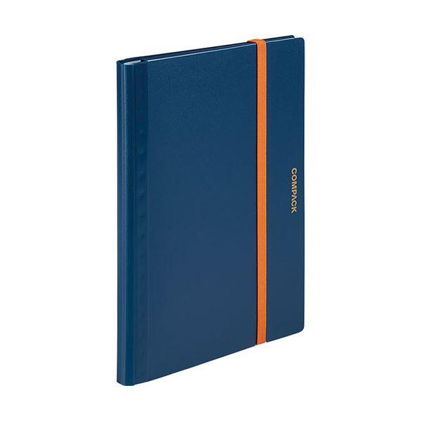 (まとめ) キングジム 二つ折りクリアーファイルコンパック 5ポケット ネイビー 5894Sネイ 1冊 【×30セット】