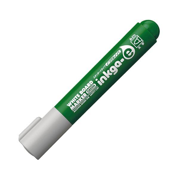 (まとめ)コクヨ ホワイトボードマーカーインクガイイ スタンダードタイプ 太字 緑 PM-BN103G 1セット(10本)【×5セット】 白