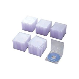 (まとめ)Blu-ray/DVD/CDプラケース スリム 1枚整理 収納 クリア CCD-JSCS100CR1パック(100枚)【×2セット】
