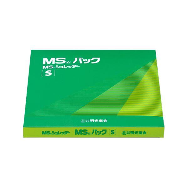 明光商会 シュレッダー用ゴミ袋 MSパック 透明 Sサイズ 1パック(100枚) 【×10セット】