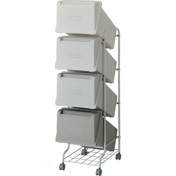 リス コンテナスタイル5 CS5-80 MX6 4段ゴミ箱 GCON158